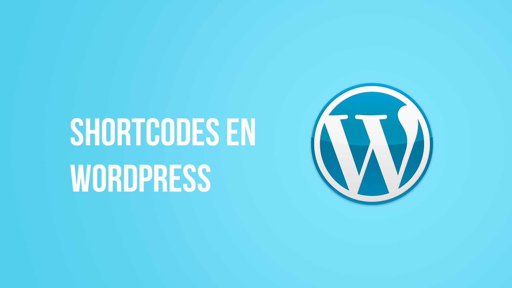 Shortcodes en WordPress