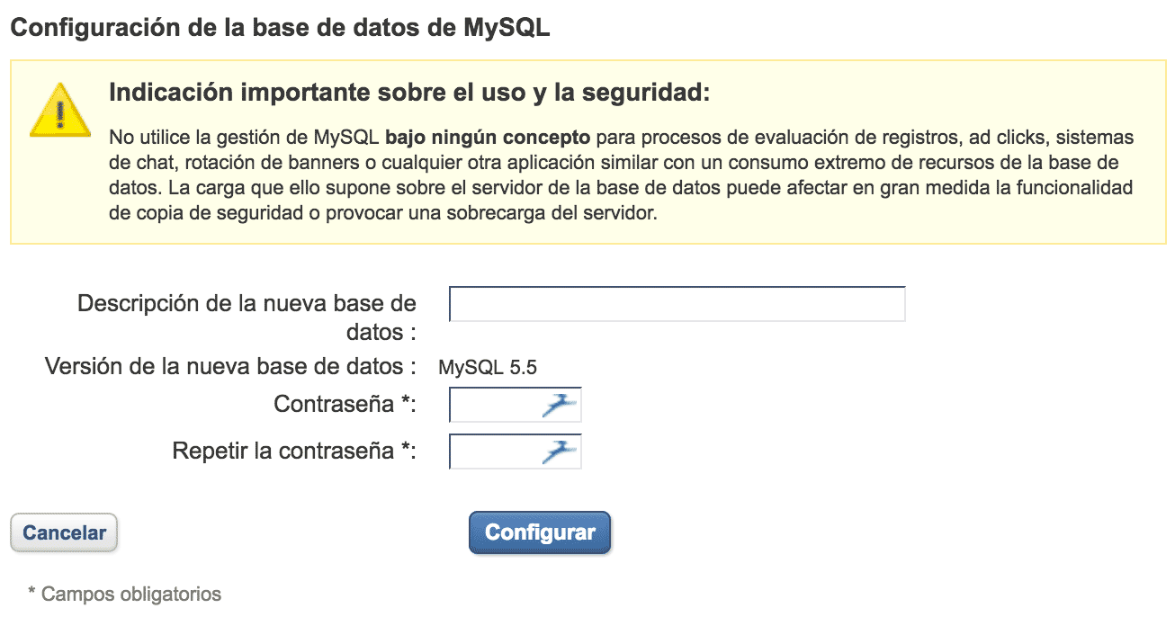 Migrar un WordPress - Crear nueva base de datos