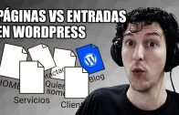 Páginas y Entradas en WordPress