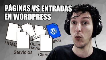 Páginas y Entradas en WordPress