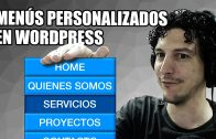 Crear menús en WordPress