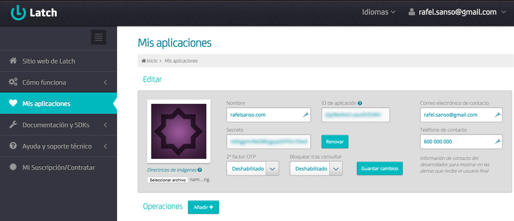 latch aplicacion wordpress